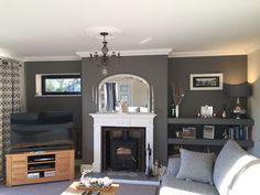 Cozy Living Room with Fireplace . Cozy Living Room with Fireplace . 46 Inspirational Cozy Living Room Decor Ideas with 1930s Living Room, Living Room Grey, Small Living Rooms, Home Living Room, Living Room Designs, Living Room Decor, Alcove Ideas Living Room, Living Room Furniture Arrangement, Room Ideas
