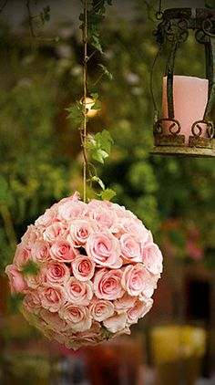 Flower ball. Would be cute as shower decorations or as nursery decor. #OhBaby
