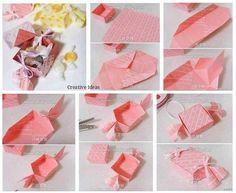 Kağıt katlama ile şık hediye kutusu yapılışı