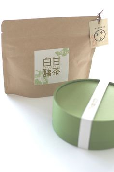 "Paper Bag Cylinder Box Tea Natural ""おそら""の健康茶"