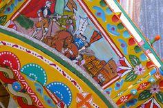 Detail of a Sicilian cart.