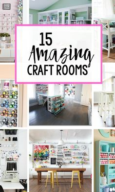 Storage, organization, workspace—you name it, these 15 Amazing Craft Rooms have inspiration for it all! If you love creating fun DIY projects, these unique room designs will give you plenty of space to let your creativity flow.