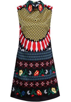 Cool, a swingin' London style dress to be ready for a party!  Yellow Sleeveless Floral Geometric Print Tank Dress 25.00