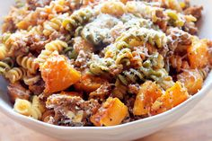 Pasta with Roasted Butternut Squash and Andouille Sausage