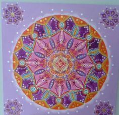 Mandala Transmutación, acrílico sobre madera, 30 x 30cm