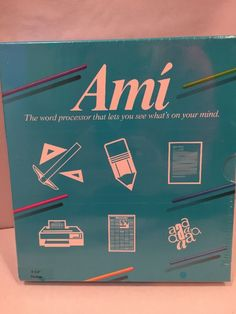 """$249.95. New Old Stock """"NOS"""" Ami Word Processor Software 5 1/4 Inch Version Release 1.0 NIP Samna Corp. #SamnaCorporation Find this item and other great antiques and collectibles online at http://stores.ebay.com/michaelraeantiques"""