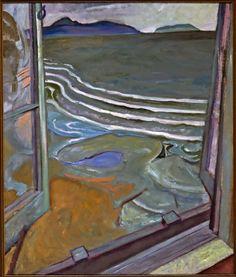 """View from the Artist's Bedroom Window, Jericho Beach,"" Frederick Horsman Varley, 1929, oil on canvas, 39.13 x 33"", Winnipeg Art Gallery."