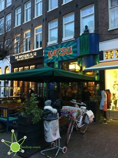 More at https://www.coffeeshop.tours/coffeeshops/katsu/ The front of #Coffeeshop Katsu near Amsterdam's Albert Cuypt Market. That picture was captured during one of our #coffeeshoptours around #Amsterdam. 💚 👌🏽💨💨💨 #followme #love #coffeeshopwalk #coffeeshopcrawl #coffeeshoptour #travel #city #amsterdamcity #amsterdamlove #bestofamsterdam #cannabisclub #420 #highsociety #highlife #stoner #cannabiscommunity #amsterdamcoffeeshop #tbt❤️ #stonersvacation #SaveTheCoffeeshops #amsterdaml