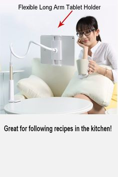 79450a7db Follow your recipes from the kitchen counter without missing a beat.  Adjustable Clamp, Screen