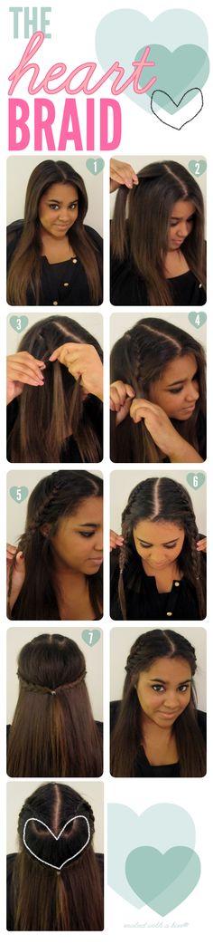 Kouturekiss - The Heart Braid  #beauty #tips #makeup #ideas #DIY