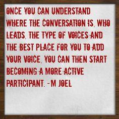 Social Media Quote - Becoming A Participant #quote #SocialMedia #GetUSocial