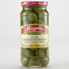 One of my favorite discoveries at WorldMarket.com: Mezzetta Castelvetrano Olives