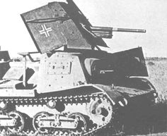 A captured light tank chassis modified for German use