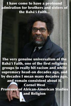 Cornel West, Professor of African-American Studies and Religion - https://vimeo.com/32987768