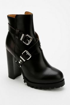 Jeffrey Campbell Mercer Cross-Strap Heeled Ankle Boot