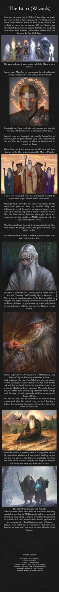 Understanding the wizards in JRR Tolkien's world.
