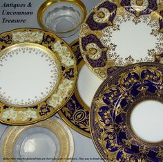 Cobalt and gold plates