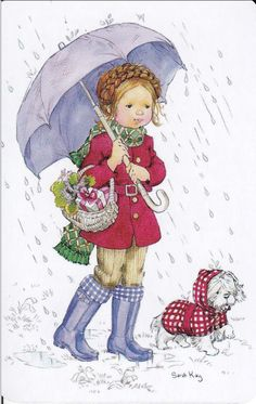 Sarah KAY Style Swap Card Girl With Umbrella Blank Back Mint Condition | eBay