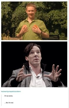 This is what the lack of Sherlock episodes resorts us too.......