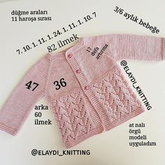 Knitting For Kids, Baby Knitting Patterns, Kids Outfits Girls, Girl Outfits, Crochet Stitches, Knit Crochet, Baby Girl Cardigans, Knitted Baby Cardigan, Baby Hats