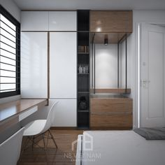 Wadrobe Design, Modern Interior, Interior Design, Bedroom Design Inspiration, Study Rooms, Bedroom Wardrobe, Laundry Room Design, Apartment Design, Modern Bedroom