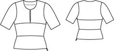 Curved Peplum Top 12/2014 #105 – Sewing Patterns | BurdaStyle.com