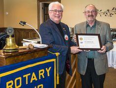 Vietnam Veteran Gordon Bellinger Receives Paul Harris Fellow Recognition from fellow Vietnam Veteran and Rotary Club of Lockport member Paul McAfee.