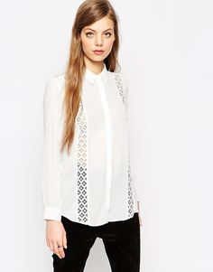 Image 1 of ASOS Lace Insert Blouse