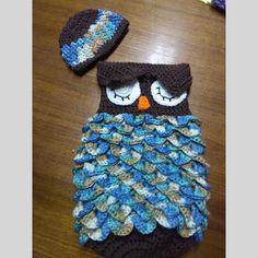 Your newborn will sleep tight with this handmade owl sleep sack.