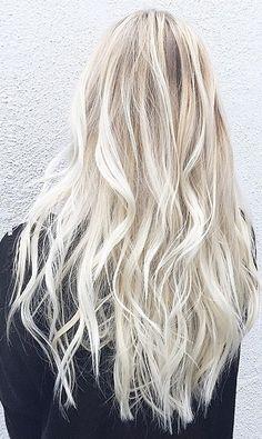 platinum blonde and long hair