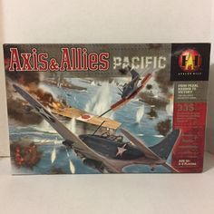 Axis and Allies Pacific Pearl Harbor Board Game Hasbro 2000 INCOMPLETE #Hasbro