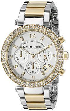 MICHAEL KORS PARKER TWO-TONE WOMEN'S DIAMONDS STAINLESS STEEL CASE UHR MK5626 - http://autowerkzeugekaufen.de/michael-kors/michael-kors-parker-two-tone-womens-diamonds-case