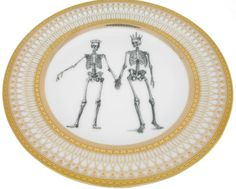 Skeleton Wedding Couple  Bride and Groom on by AngiolettiDesigns