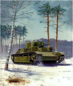 Interwar Period, Military Art, Armored Vehicles, Soviet Union, Battleship, Box Art, Panzer, Military Vehicles, Ww2