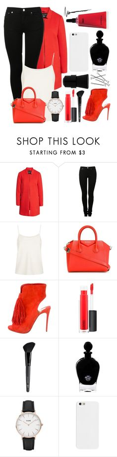 """#49"" by oneandonlyfashion ❤ liked on Polyvore featuring Dorothy Perkins, MM6 Maison Margiela, The Row, Givenchy, Christian Louboutin, MAC Cosmetics, Old Navy, EB Florals, CLUSE and blendSMART"