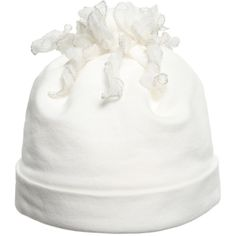 Baby Ivory Cotton Hat With Frills, Aletta, Girl