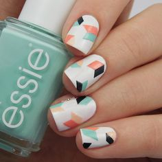 geometric nailart | nails @lacquer_liefde
