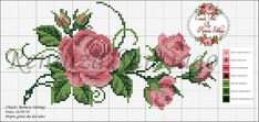This post was discovered by Pe Cross Stitch Rose, Cross Stitch Flowers, Cross Stitch Charts, Modern Cross Stitch Patterns, Cross Stitch Designs, Cross Stitching, Cross Stitch Embroidery, Beading Patterns, Embroidery Patterns