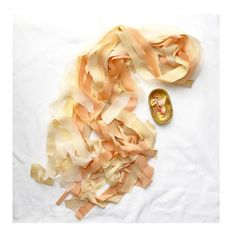 peaches and cream silk ribbon by Kate Cullen for florists and weddings