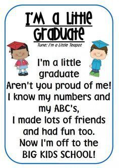 Is your kid going to be a preschool graduate and soon be a kindergarten student? Celebrate this wonderful occasion with these inspirational preschool graduation quotes. Preschool Graduation Songs, Preschool Poems, Preschool Kindergarten, Pre K Graduation Songs, Pre School Graduation Ideas, Kindergarten Quotes, Preschool Teacher Quotes, Graduation Crafts, Spring Preschool Songs