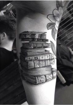 Adorable old book Tattoo
