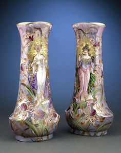 Antique Porcelain, European Porcelain, Sevres Porcelain Vases ~ M.S. Rau Antiques
