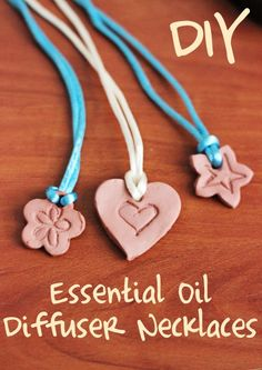 DIY Essential Oil Diffuser Necklaces.  Great craft to make with the kids so they can wear thieves when they are at school.
