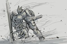 The shield. Video Game Art, Video Games, Reinhardt Wilhelm, Overwatch Pin, Human Drawing Reference, Soldier 76, Anime Undertale, Gundam Art, High Noon