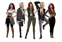 Fall LookbookPS. Fall is my fave season irl. I just looooove fall fashion! 1- crop top @alecseycool / jeans @simpliciaty / boots @madlensims / shirt 2- hoodie @bluebellsims / knee high socks @savage-sims / booties @hallowsims 3- leather vest / crop...