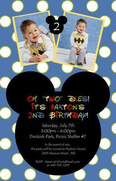 Mickey Mouse Invitations by klawlor614 on Etsy, $25.95
