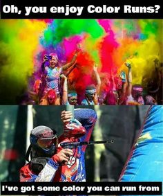 Paintball colours