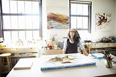 Artist Studio and Tools, Marilyn Jonassen's studio, Photographer, Tom Barwick