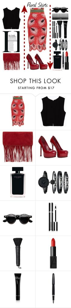"""""""Floral Skirts"""" by emcf3548 ❤ liked on Polyvore featuring Stella Jean, Zara, Accessorize, Yves Saint Laurent, Narciso Rodriguez, Anne Klein, Givenchy, NARS Cosmetics, Bobbi Brown Cosmetics and Fountain"""