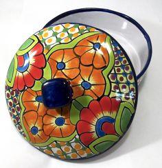 Talavera Pottery Tortilla Warmer Hand Paintedtw006